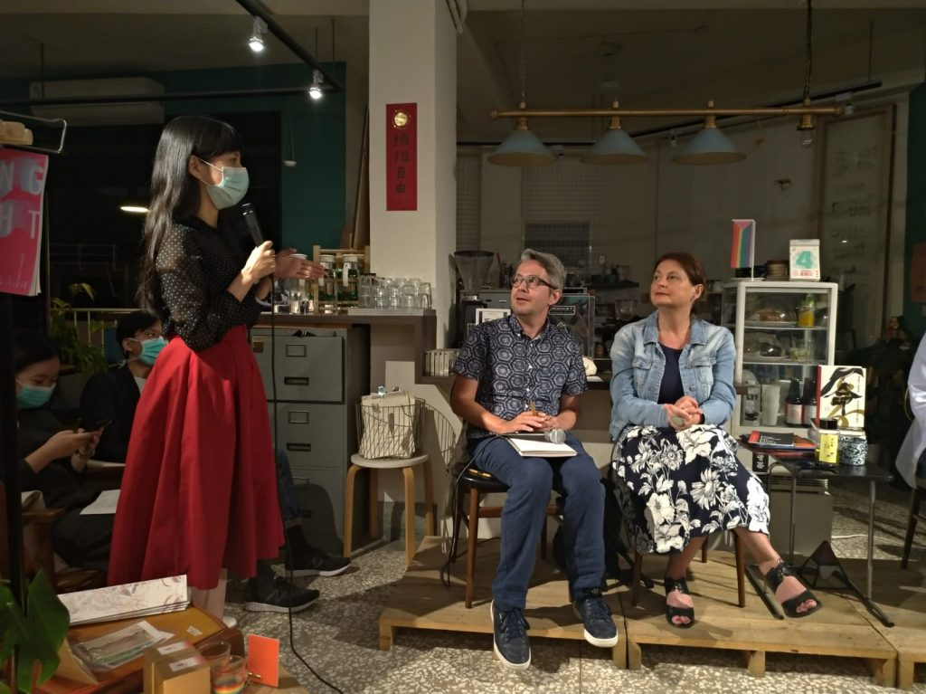 Radka Denemarková reading in Tainan, Taiwan, 5.3.2020