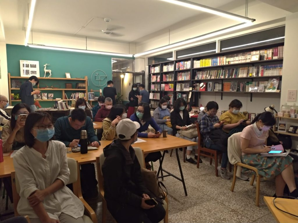 Radka Denemarková reading in Tainan, Taiwan (5.3.2020)